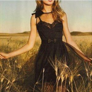 Rodarte Target Black Tulle Bow Slip Mini Dress